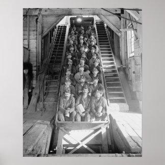 Mineros de cobre, 1906 impresiones