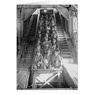 Mineros de cobre, 1906 tarjeta