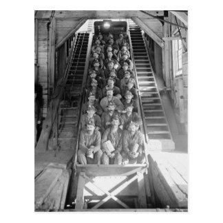 Mineros de cobre, 1906 tarjetas postales