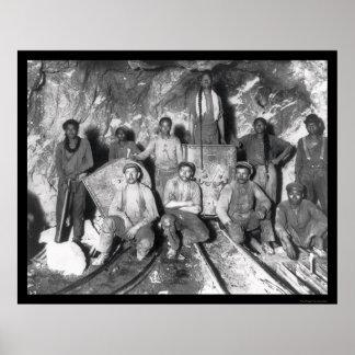 Mineros de oro en Suráfrica 1904 Impresiones