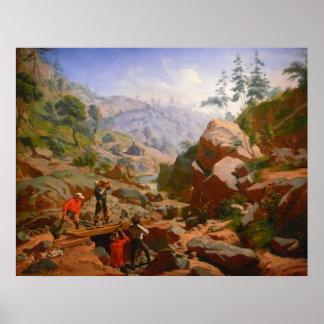 Mineros en las sierras - 1851/1852 poster