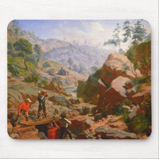 Mineros en las sierras - 1851/1852 tapetes de ratón