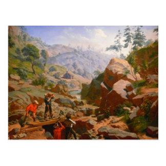 Mineros en las sierras - 1851/1852 postal