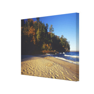 Miners Beach at Pictured Rocks National Canvas Print