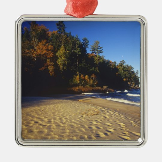 Miners Beach at Pictured Rocks National Metal Ornament