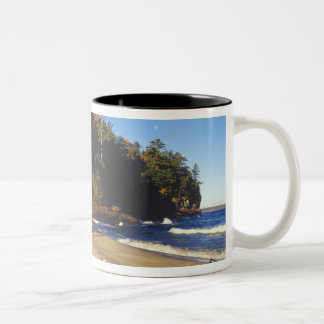 Miners Beach at Pictured Rocks National Two-Tone Coffee Mug