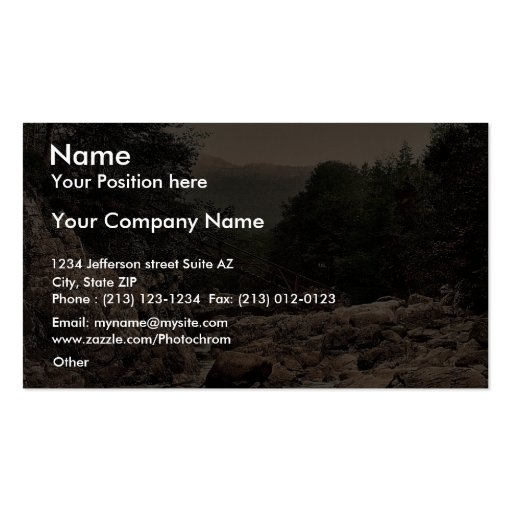 Miners' bridge, Fairy Glen, Bettws-y-Coed (i.e. Be Double-Sided Standard Business Cards (Pack Of 100)