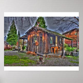 Miner's cabin print