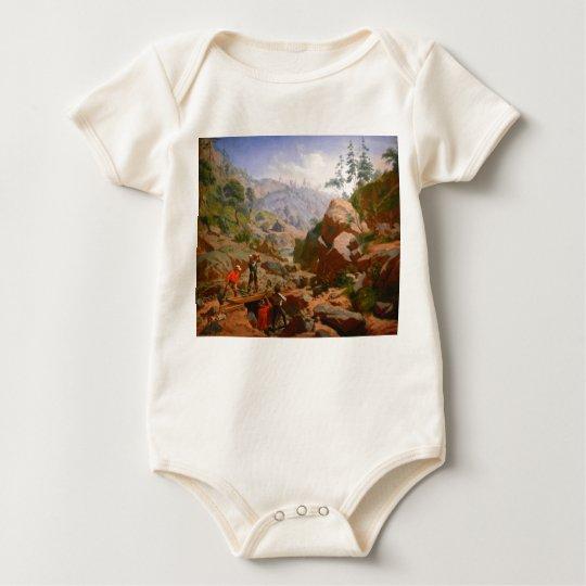 Miners in the Sierras - 1851/1852 Baby Bodysuit
