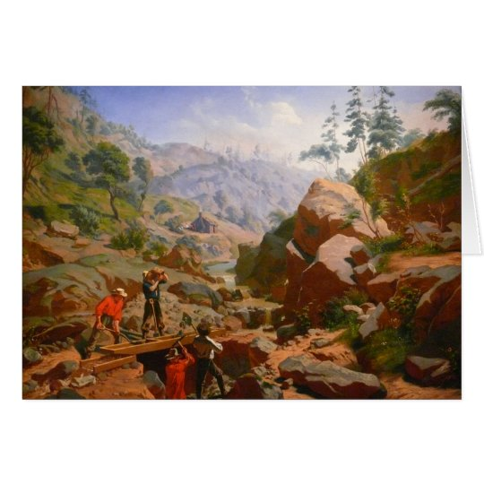 Miners in the Sierras - 1851/1852 Card