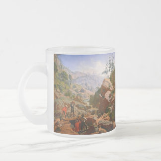 Miners in the Sierras by Charles Christian Nahl Frosted Glass Coffee Mug