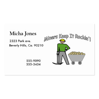 Miners Keep It Rockin Double-Sided Standard Business Cards (Pack Of 100)