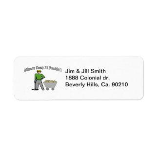 Miners Keep It Rockin Custom Return Address Label