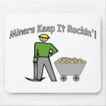 Miners Keep It Rockin Mouse Pad