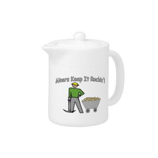 Miners Keep It Rockin Teapot