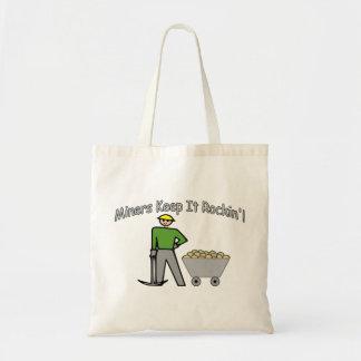 Miners Keep It Rockin Tote Bag