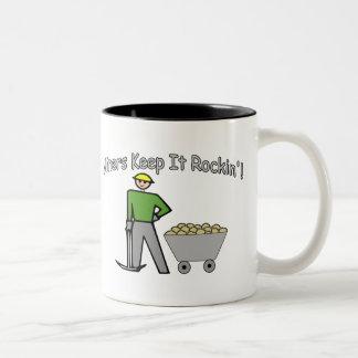 Miners Keep It Rockin Two-Tone Coffee Mug