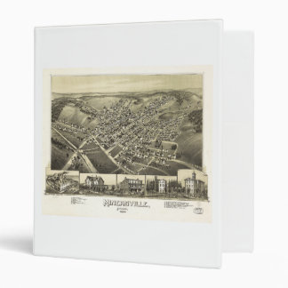 Minersville, Pennsylvania by T.M. Fowler (1889) 3 Ring Binder