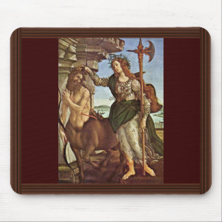 Minerva And The Centaur By Botticelli Sandro Mousepad