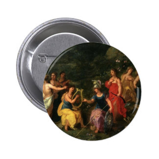 Minerva and the muses pin