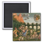 Minerva Chasing the Vices 2 Inch Square Magnet