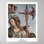 Minerva de Sandro Botticelli Posters