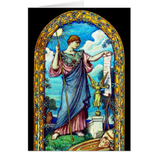 Minerva Mosaic Design 1896 Greeting Cards