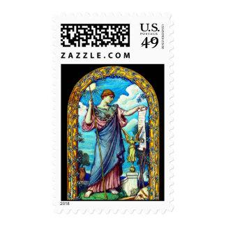 Minerva Mosaic Design 1896 Stamps