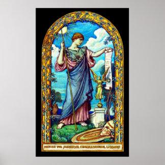 Minerva Mosaic Design 1896 Poster