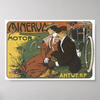 Minerva Motor Antwerp Poster