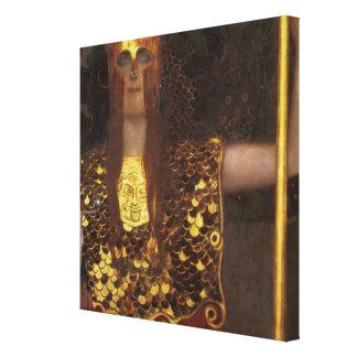 Minerva o Pallas Athena Lona Envuelta Para Galerías