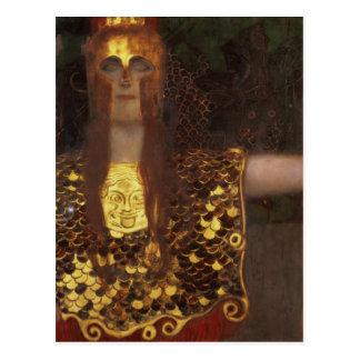 Minerva o Pallas Athena Tarjeta Postal