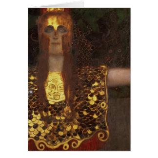 Minerva or Pallas Athena Card