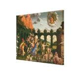 Minerva que persigue los vicios lienzo envuelto para galerías