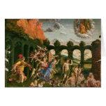 Minerva que persigue los vicios tarjeta de felicitación