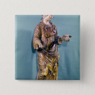 Minerva with an Owl, copy of a 6th century Pinback Button