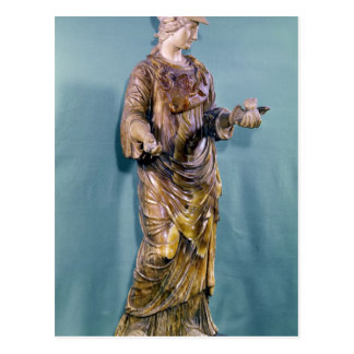 Minerva with an Owl, copy of a 6th century Postcard
