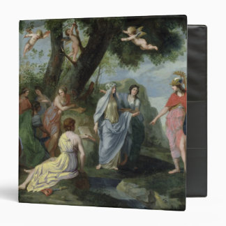 Minerva with the Muses 3 Ring Binder