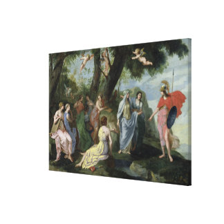 Minerva with the Muses Canvas Print