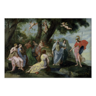 Minerva with the Muses Poster