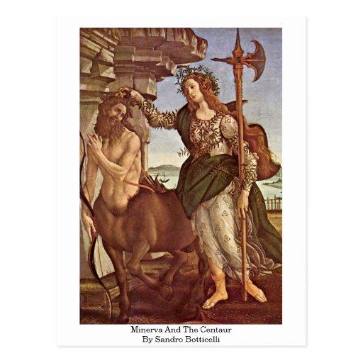 Minerva y el Centaur de Sandro Botticelli Postales