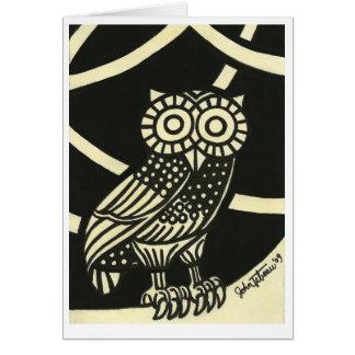 Minerva's Owl Greeting Card