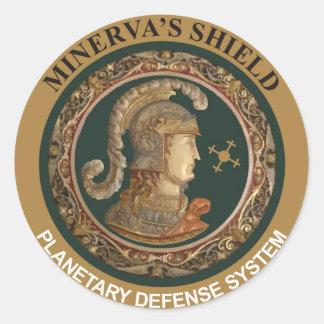 Minerva's Shield Classic Round Sticker