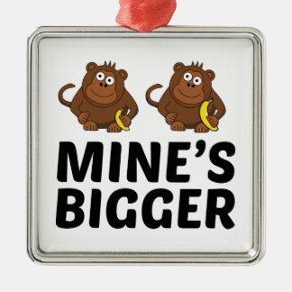 Mine's Bigger Metal Ornament