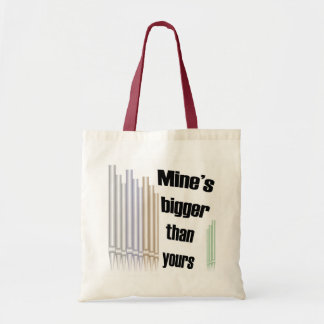 Mine's bigger than yours budget bag