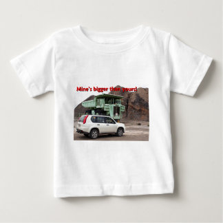 Mine's bigger than yours: mining truck & SUV Baby T-Shirt