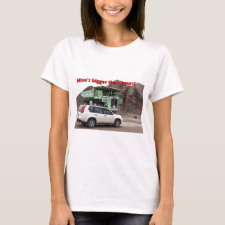 Mine's bigger than yours: mining truck & SUV T-Shirt