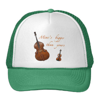Mine's bigger than yours strings trucker hat
