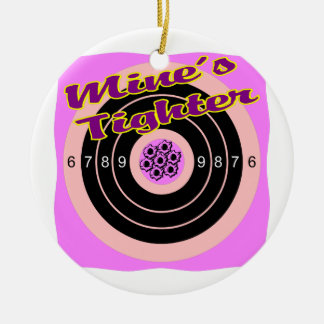 Mines Tighter Gun Target Double-Sided Ceramic Round Christmas Ornament