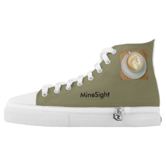 MineSight (MiSi) Hightop gym shoe in Green w/Logo